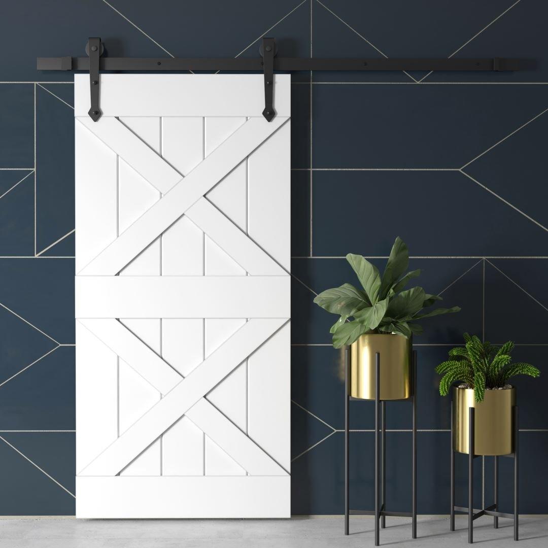 Urban Woodcraft | Double X White Barn Door 1 MAIN