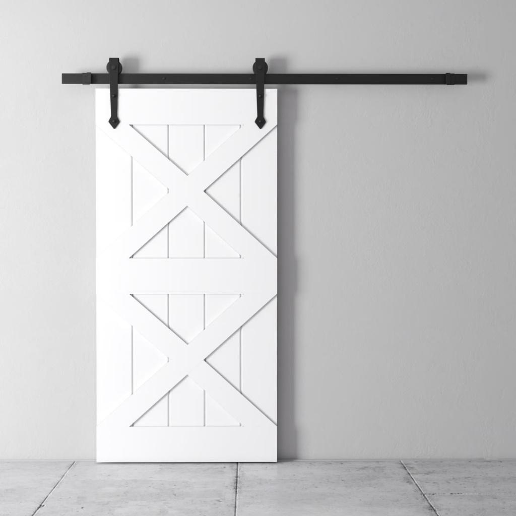 40 Quot Double X Barn Door White Urban Woodcraft