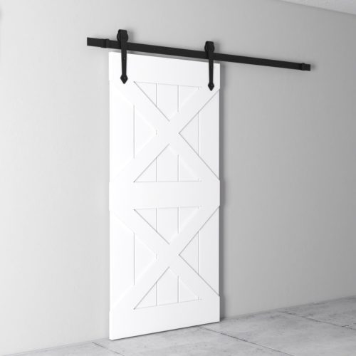 Urban Woodcraft Double X White Barn Door 3
