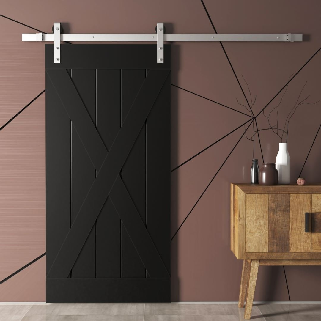 Urban Woodcraft | Grand X Espresso Barn Door 1 MAIN