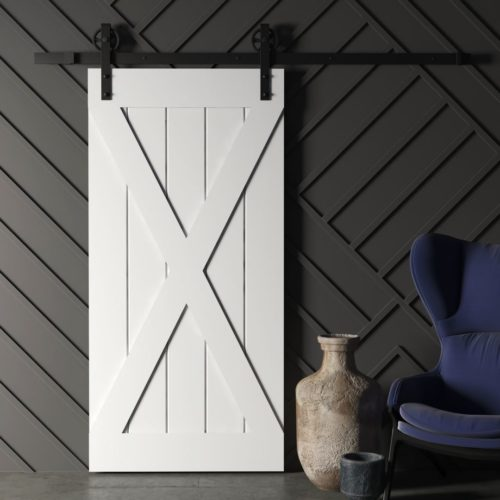 Urban Woodcraft | Grand X Grey Barn Door 1 MAIN