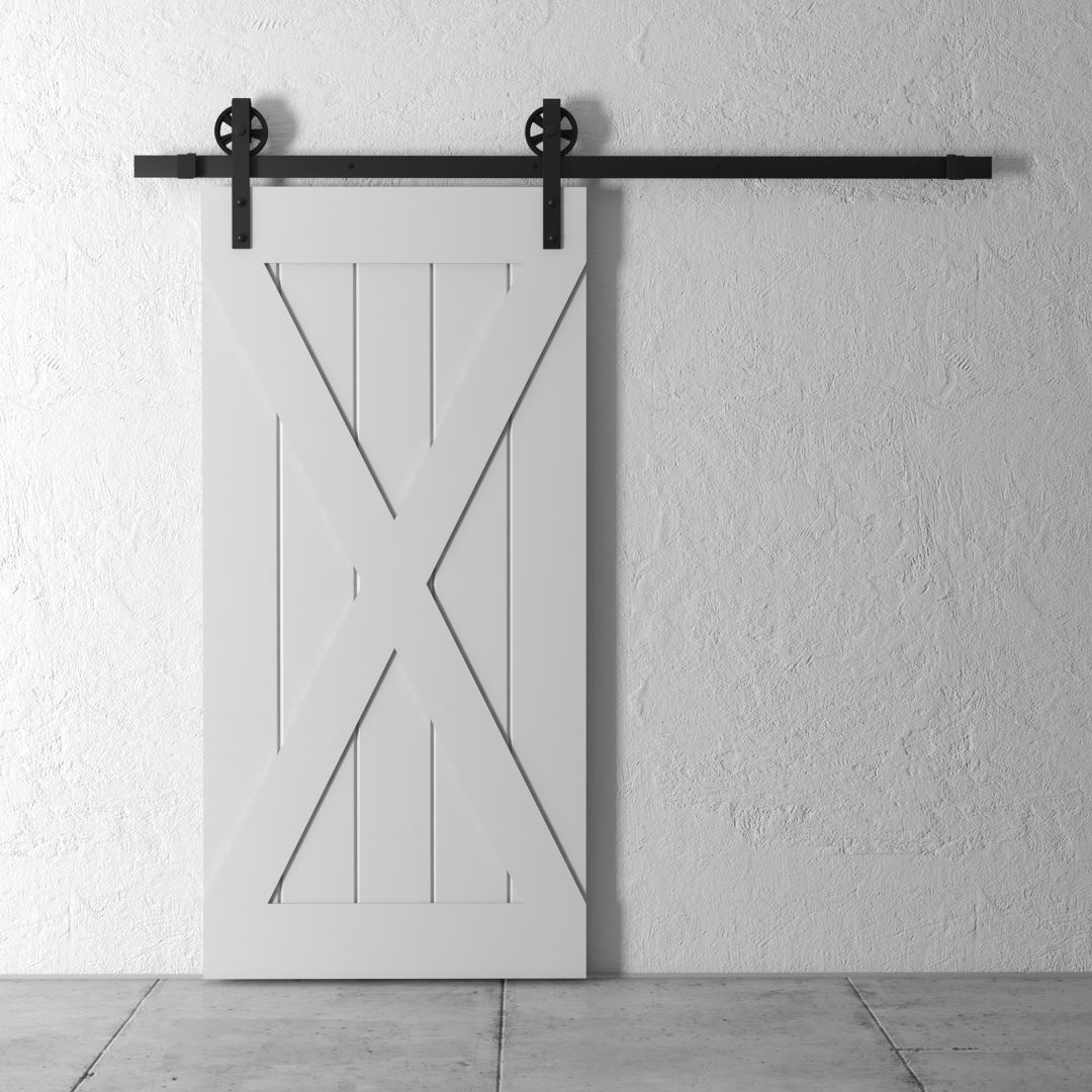 Urban Woodcraft | Grand X Grey Barn Door 2
