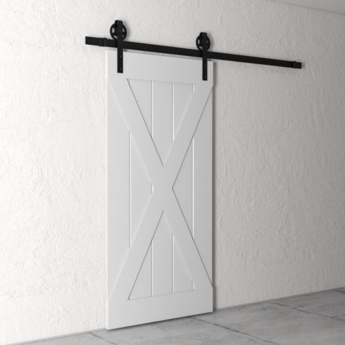Urban Woodcraft | Grand X Grey Barn Door 3