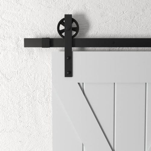 Urban Woodcraft | Grand X Grey Barn Door 4