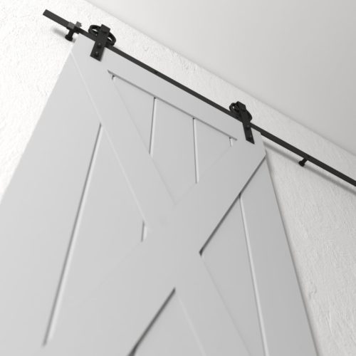 Urban Woodcraft | Grand X Grey Barn Door 6