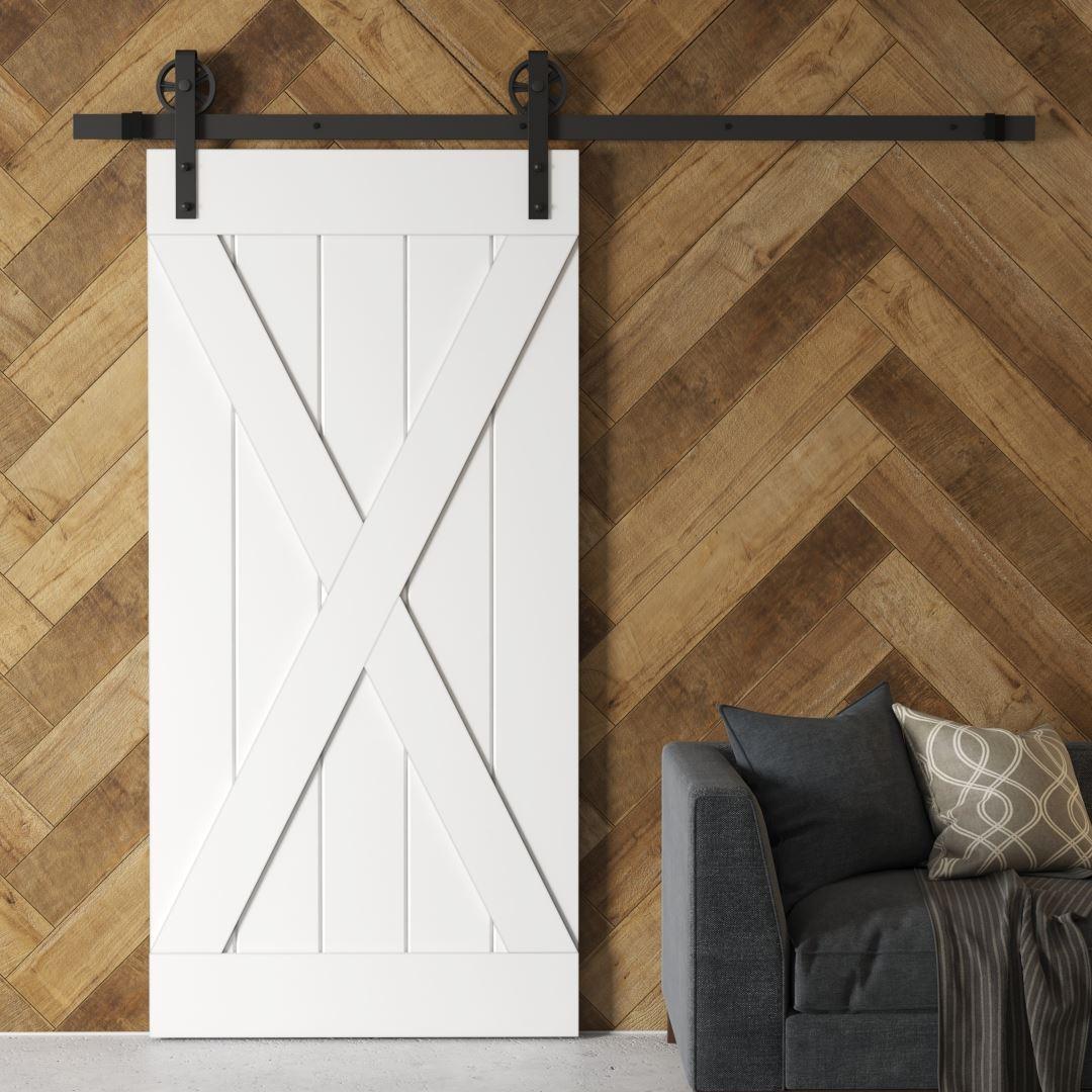 Urban Woodcraft | Grand X White Barn Door 1 MAIN
