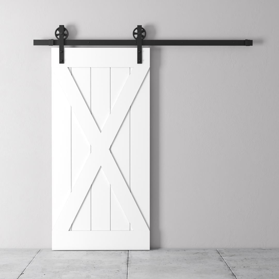 Urban Woodcraft | Grand X White Barn Door 3