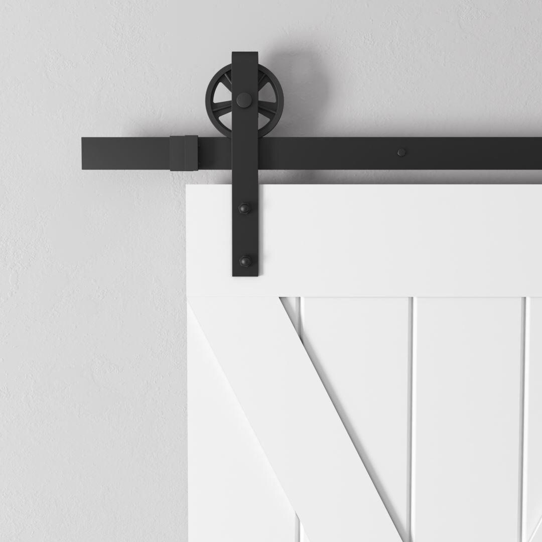Urban Woodcraft | Grand X White Barn Door 4