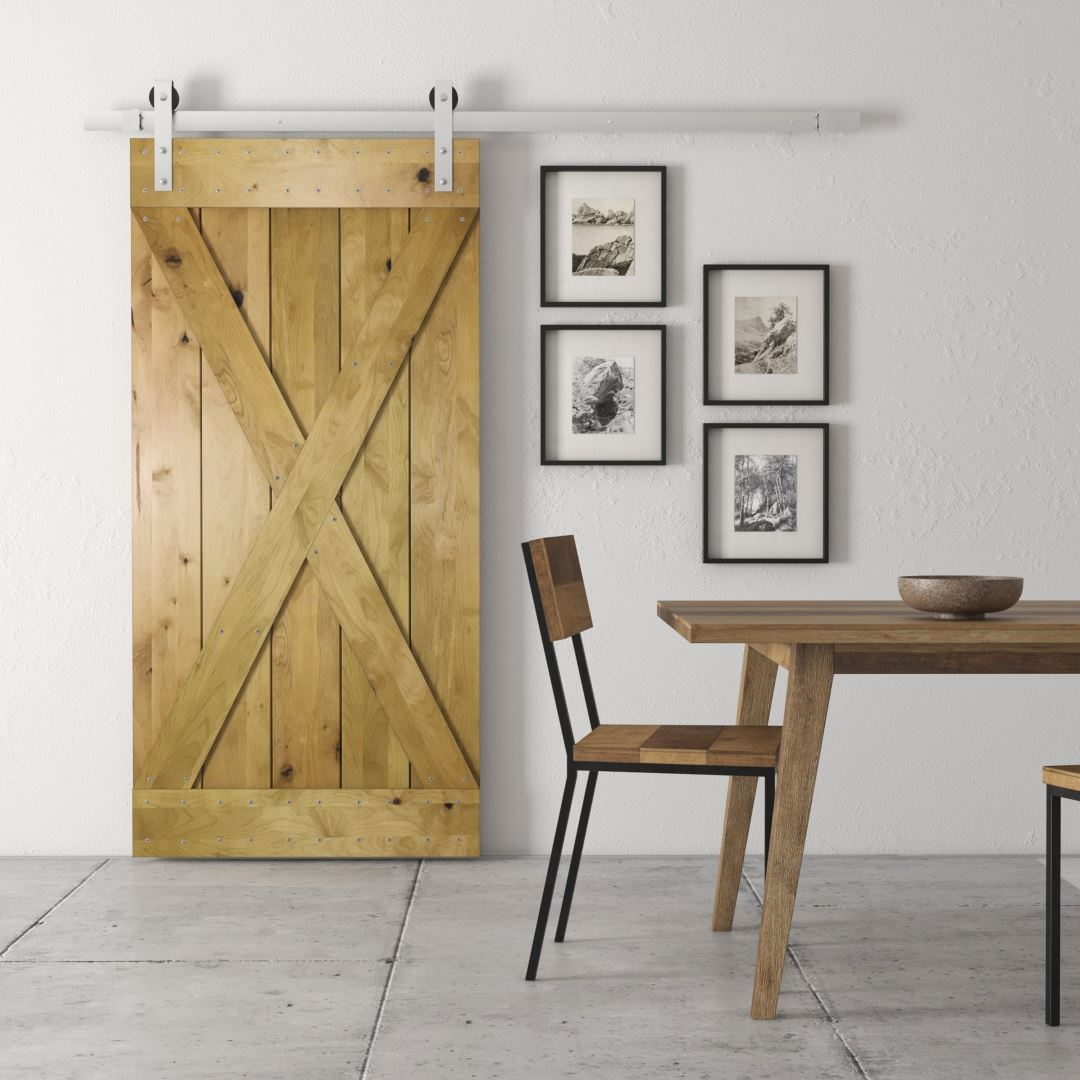 Urban Woodcraft | Knotty Alder Natural Barn Door 1 MAIN