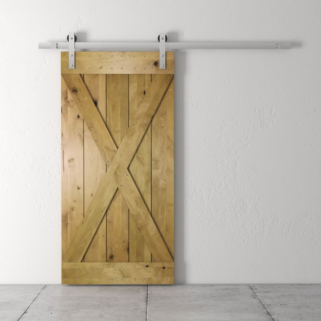 Urban Woodcraft | Knotty Alder Natural Barn Door 3