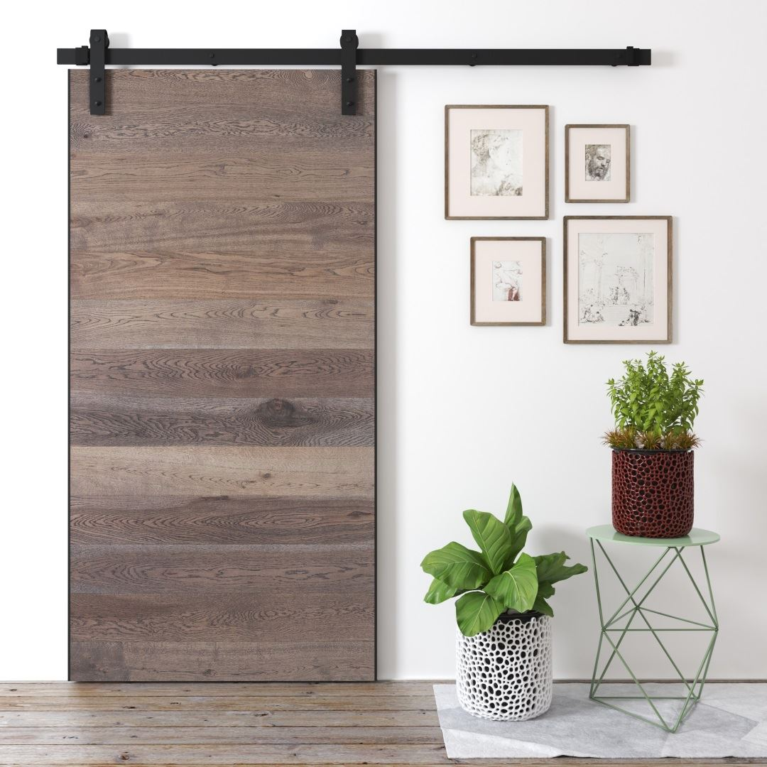 Urban Woodcraft | Oak Panel Grey Barn Door 1 MAIN