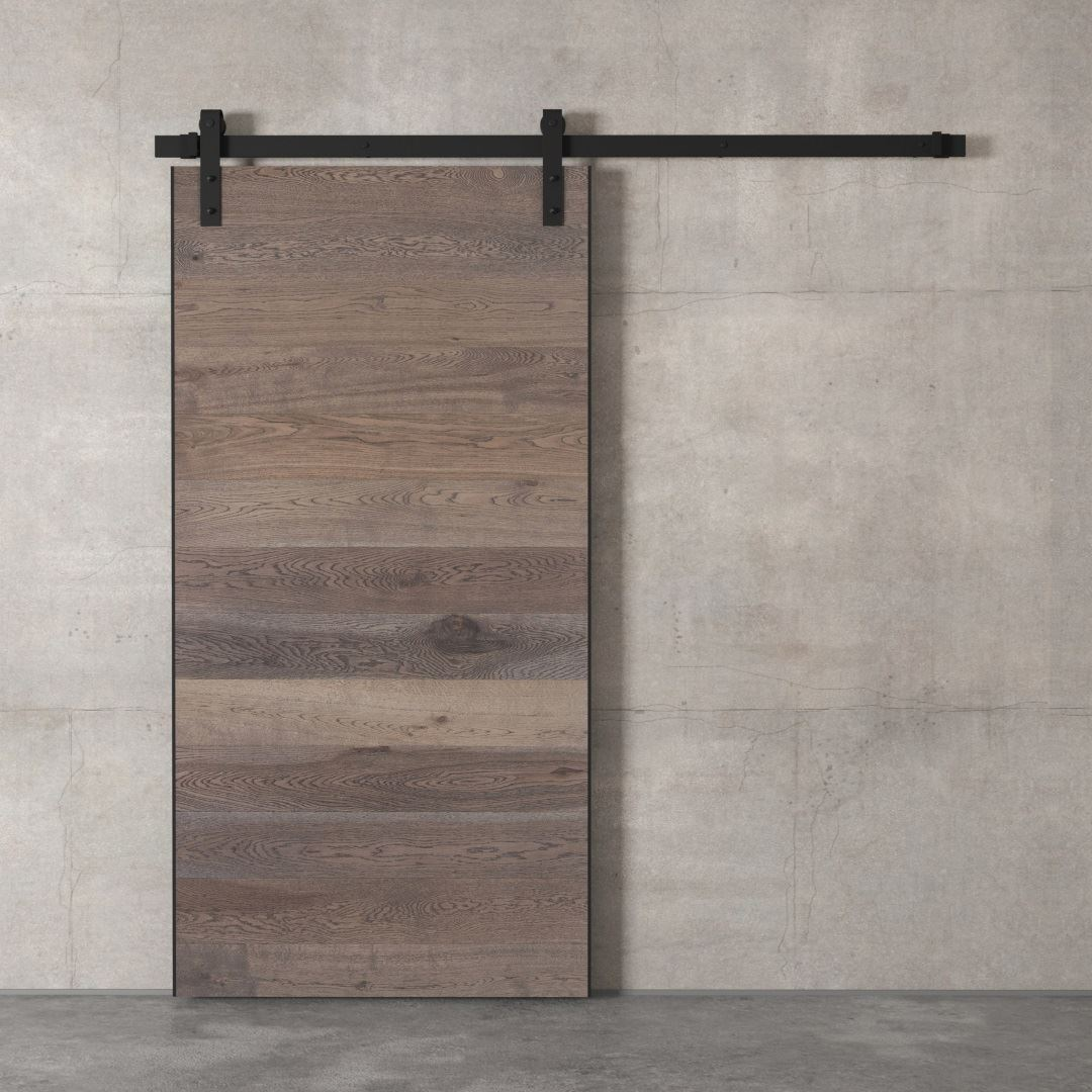 Urban Woodcraft | Oak Panel Grey Barn Door 2