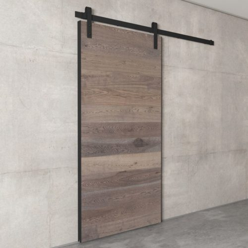 Urban Woodcraft | Oak Panel Grey Barn Door 3