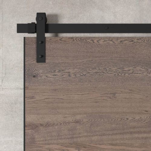Urban Woodcraft | Oak Panel Grey Barn Door 4