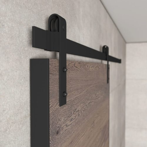 Urban Woodcraft | Oak Panel Grey Barn Door 5