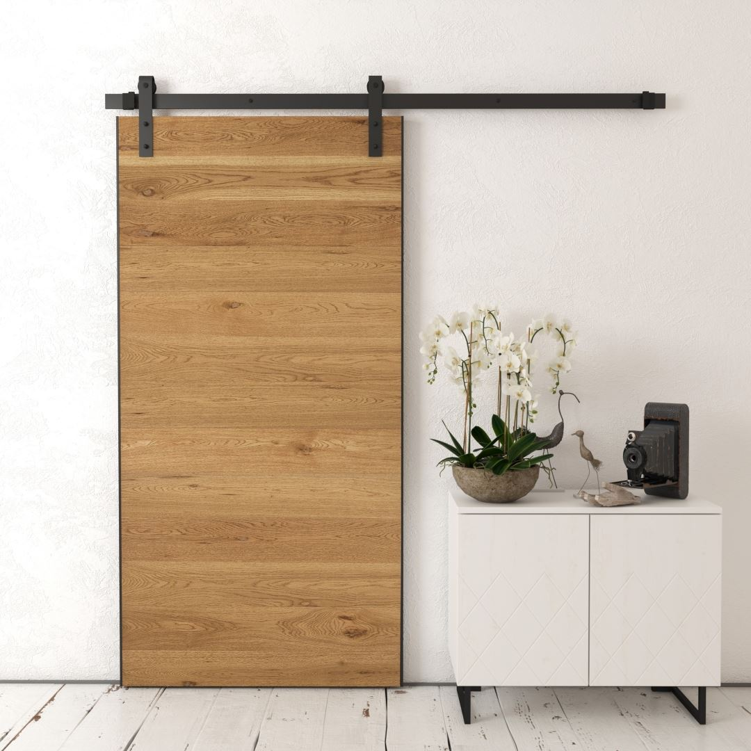 Urban Woodcraft | Oak Panel Natural Barn Door 1 MAIN