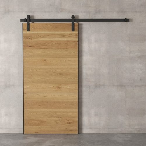 Urban Woodcraft | Oak Panel Natural Barn Door 2