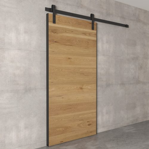 Urban Woodcraft | Oak Panel Natural Barn Door 3