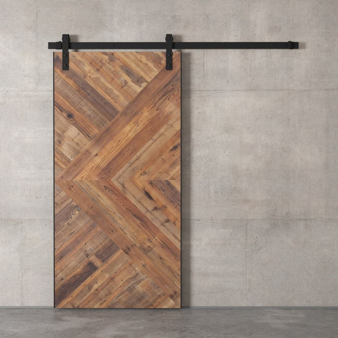 Urban Woodcraft | Reclaimed Wood British Brace Natural Barn Door 4
