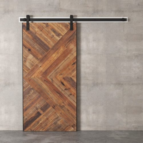 Urban Woodcraft | Reclaimed Wood British Brace Natural Barn Door 5