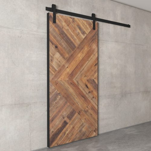 Urban Woodcraft | Reclaimed Wood British Brace Natural Barn Door 6