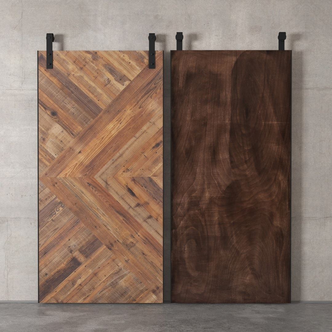 Urban Woodcraft | Reclaimed Wood British Brace Natural Barn Door 8