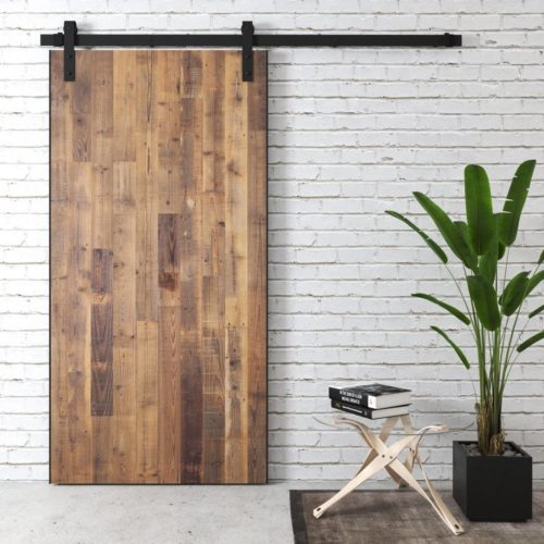 Urban Woodcraft | Reclaimed Wood Panel Natural Barn Door 1 MAIN