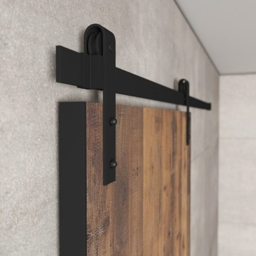 Urban Woodcraft | Reclaimed Wood Panel Natural Barn Door 2