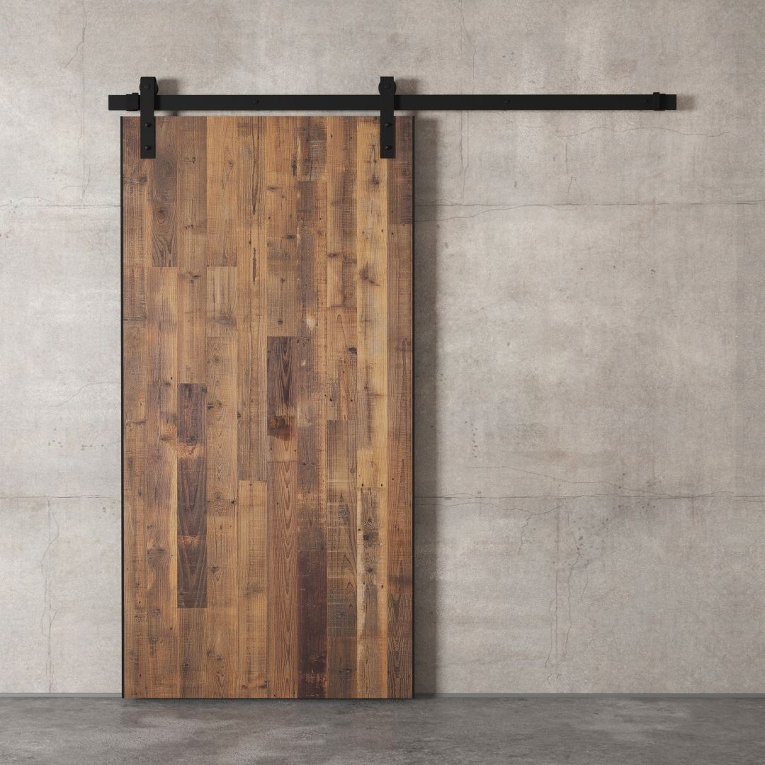 Urban Woodcraft | Reclaimed Wood Panel Natural Barn Door 4