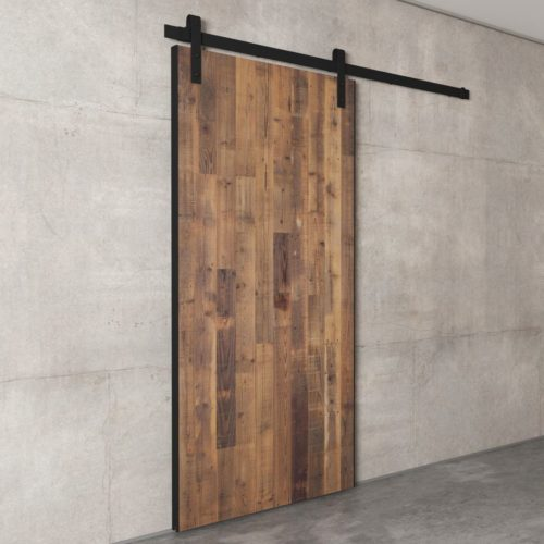 Urban Woodcraft | Reclaimed Wood Panel Natural Barn Door 5