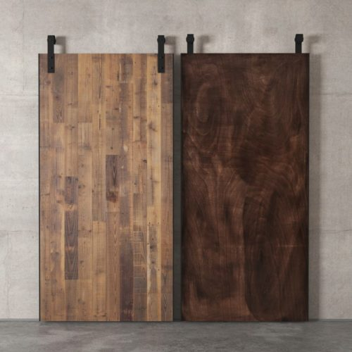 Urban Woodcraft | Reclaimed Wood Panel Natural Barn Door 7