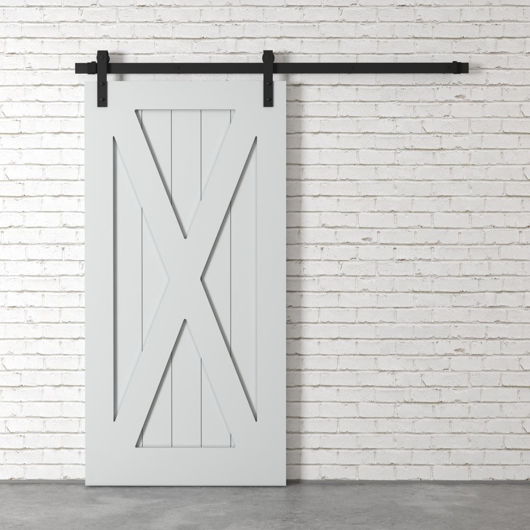 Urban Woodcraft | X-Panel Grey Barn Door 2