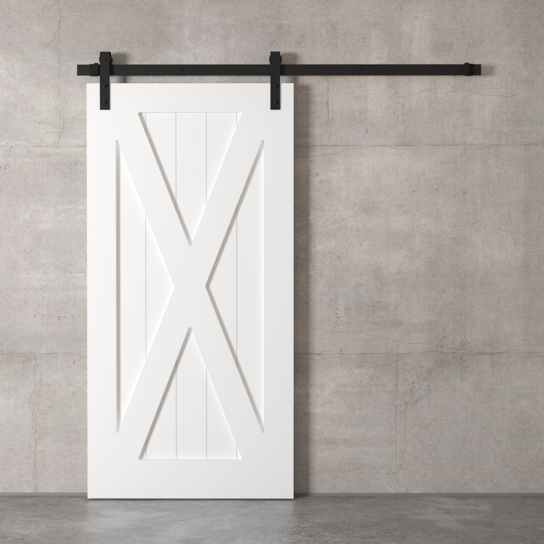 Urban Woodcraft | X-Panel White Barn Door 2