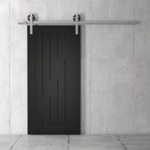 Urban Woodcraft | Z-Panel Espresso Barn Door 1 MAIN