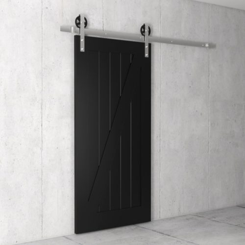 Urban Woodcraft | Z-Panel Espresso Barn Door 2