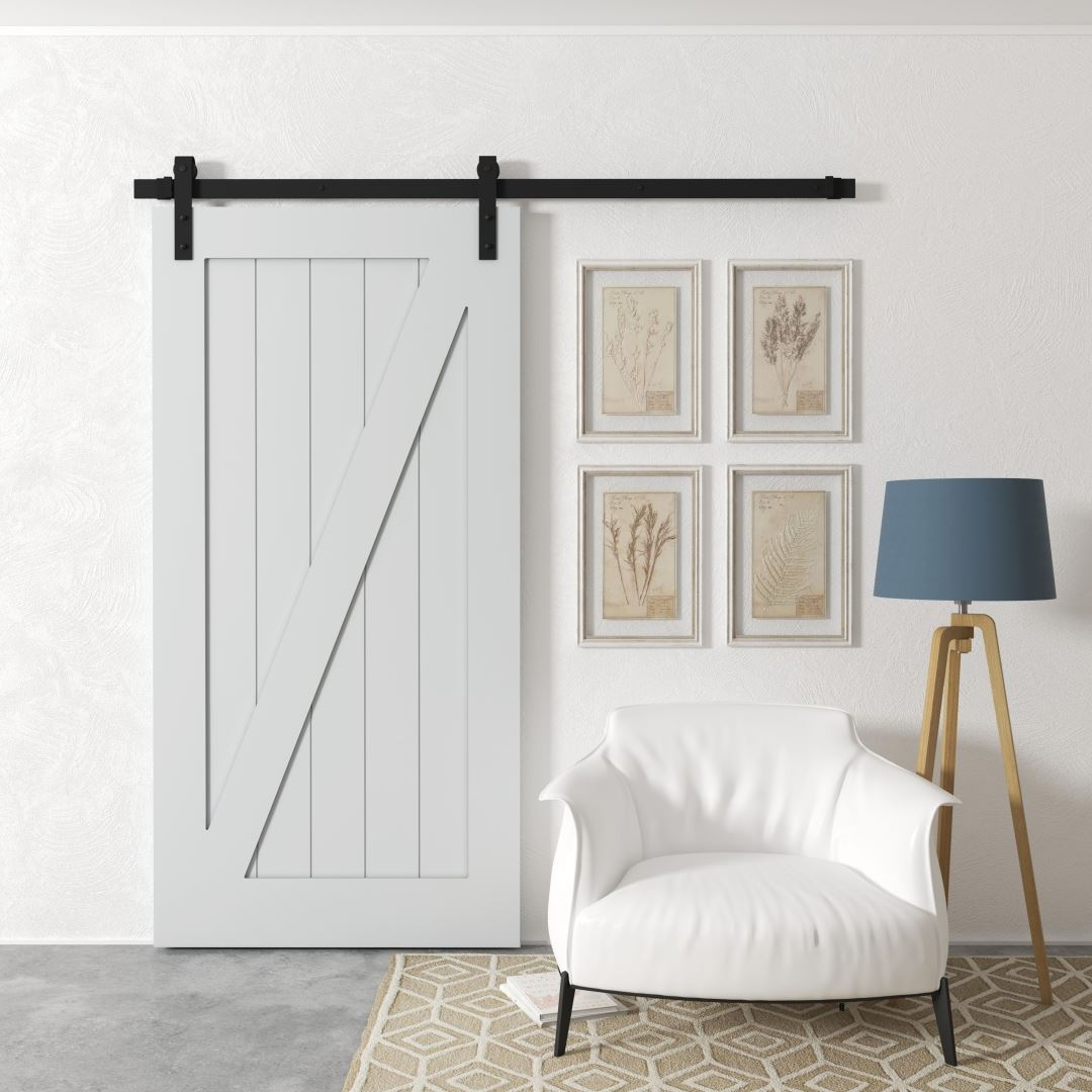 Urban Woodcraft | Z-Panel White Barn Door 1 MAIN
