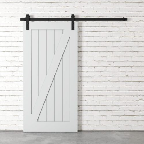 Urban Woodcraft | Z-Panel White Barn Door 2