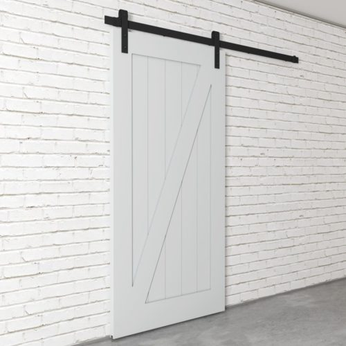 Urban Woodcraft | Z-Panel White Barn Door 3
