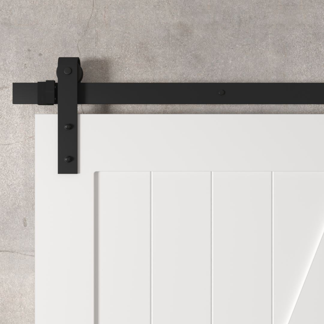 Urban Woodcraft | Z-Panel White Barn Door 4