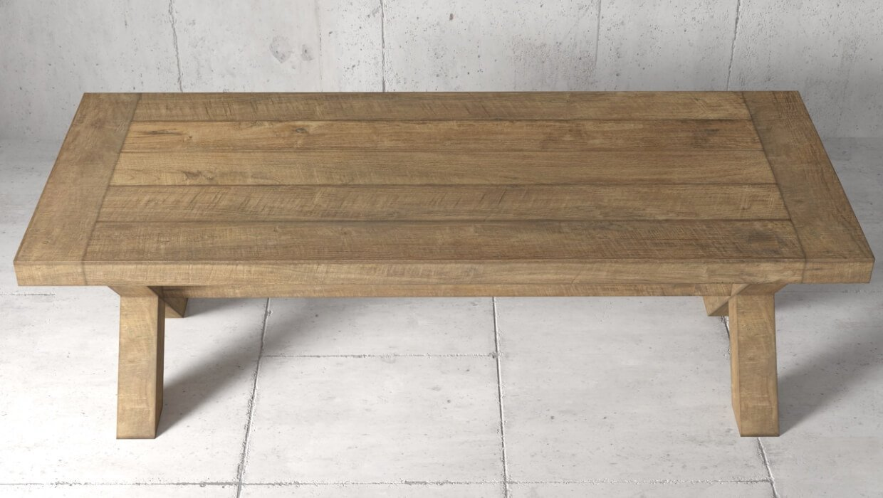 Grand X Dining Table | Solid Wood Reclaimed Furniture