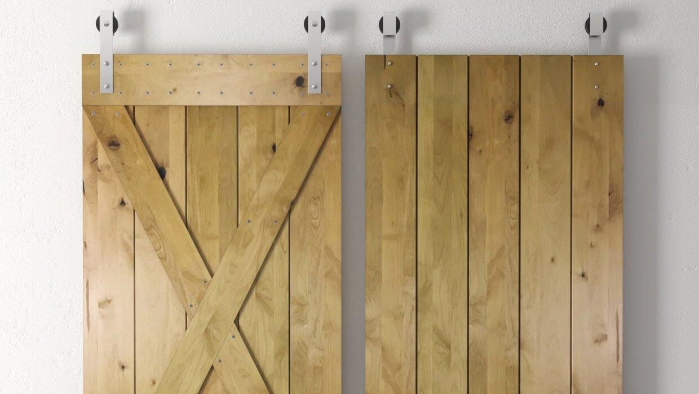 Knotty Alder Barn Door | Urban Barn Door Solid Core Wood Alder Sliding Interior Panel Barn Door