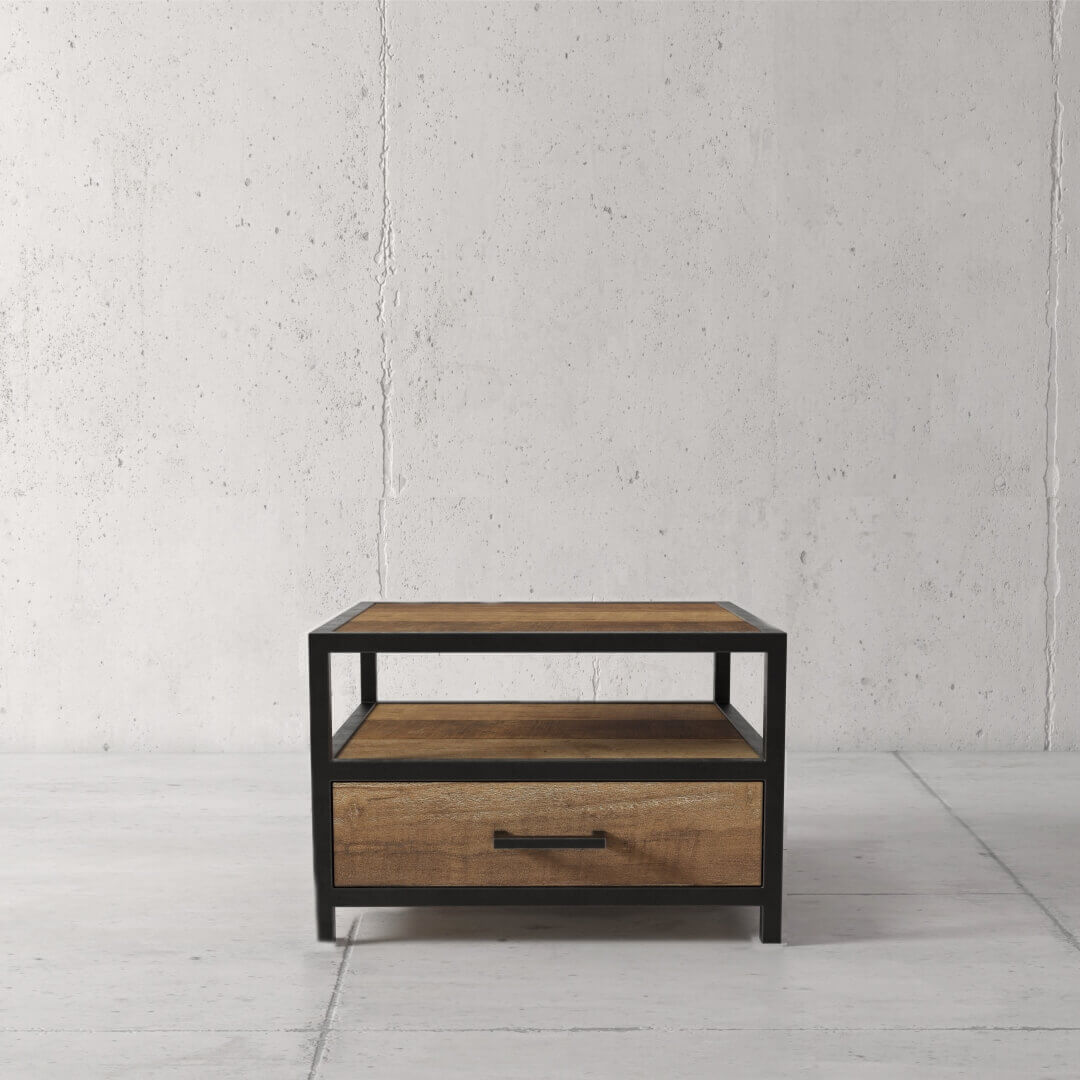 Urban Woodcraft | 24'' Opus Side Table finished in Multi-Coloured Teak