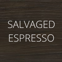 Salvaged Espresso wood finish by Urban Woodcraft