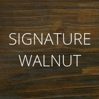 Signature Walnut wood finish by Urban Woodcraft