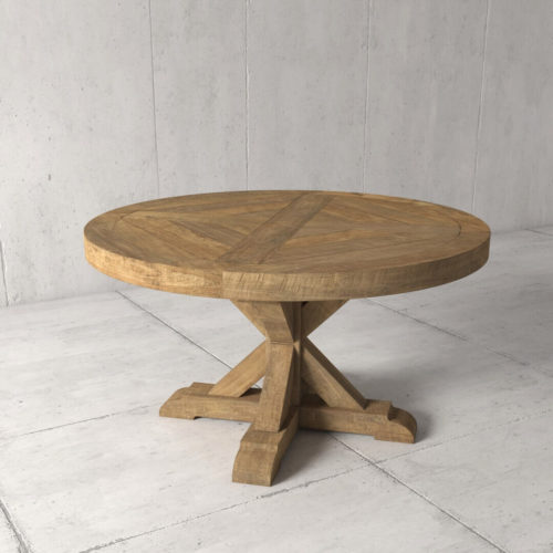 Urban Woodcraft | 48'' Naturally Finished Reclaimed Teak Round Table