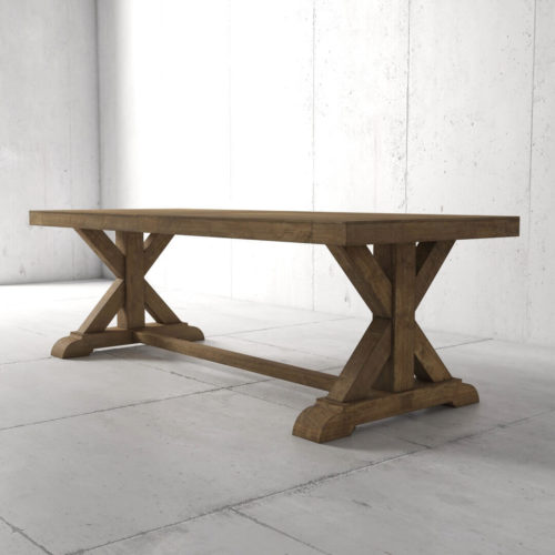Urban Woodcraft | 98'' Inch Naturally Finished Reclaimed Wood Dining Table