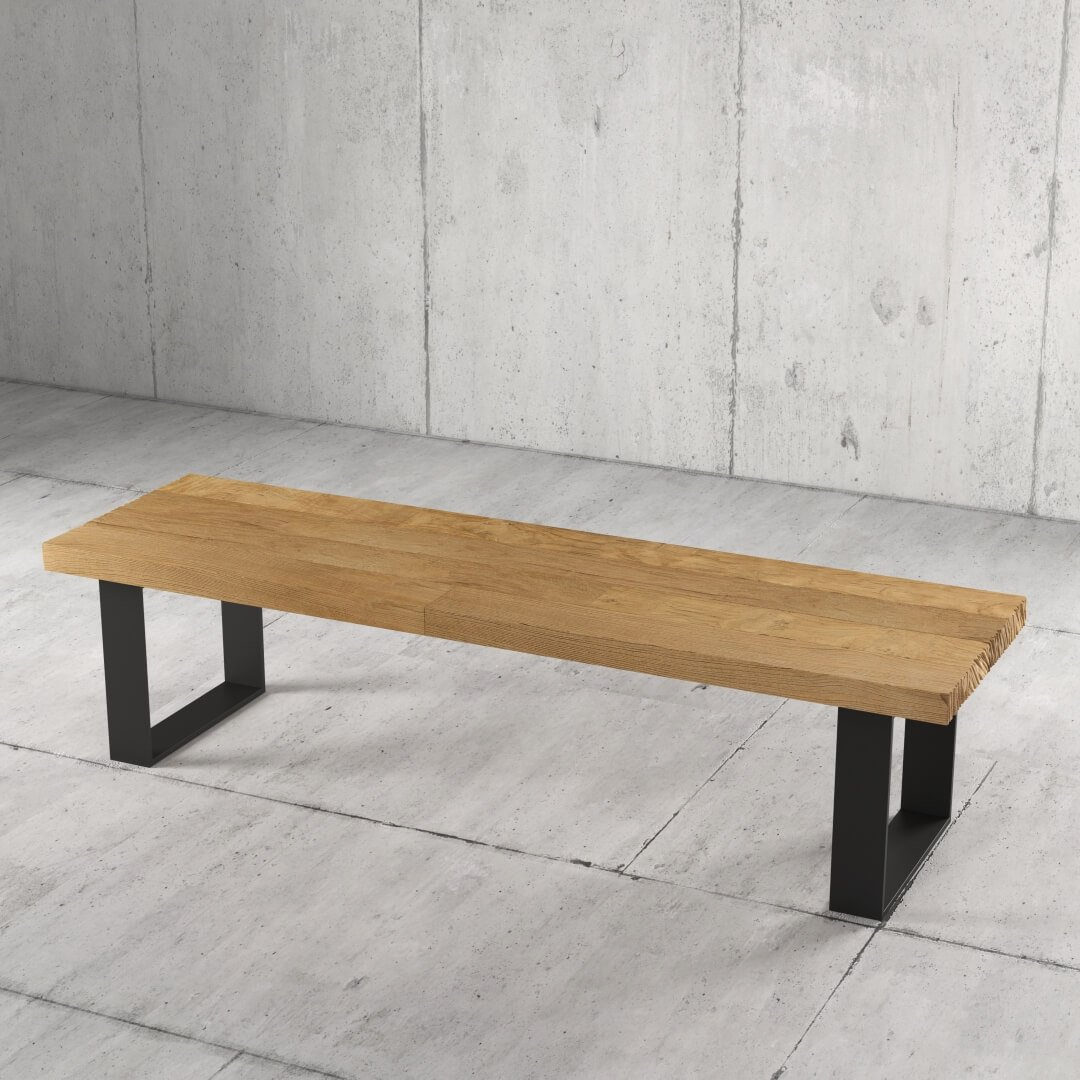 55'' Long Soma Coffee Table in Natural Wood Finish 3