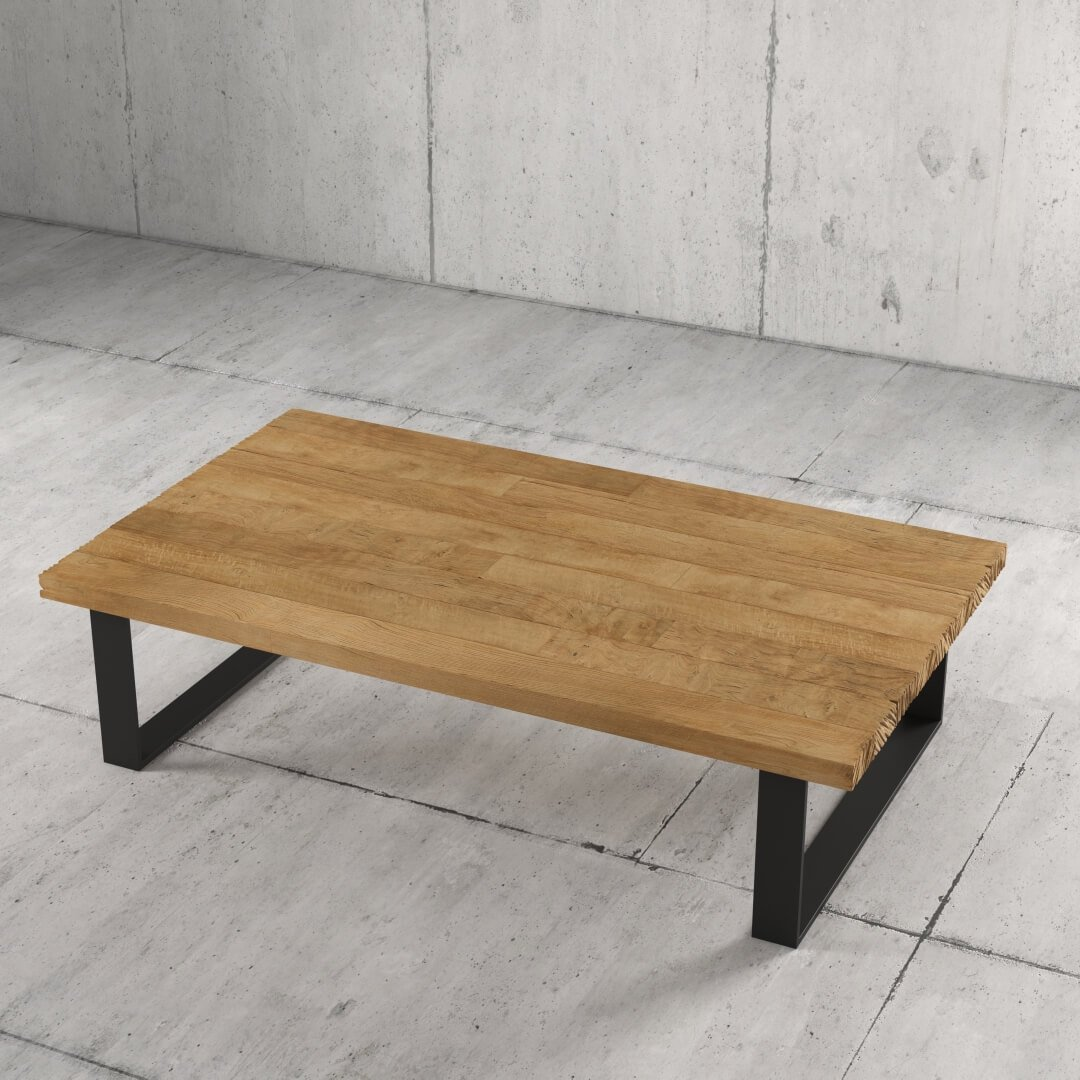 55'' Soma Coffee Table in Natural Wood Finish 3