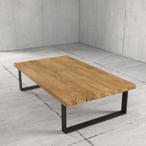 55'' Soma Coffee Table in Natural Wood Finish 4