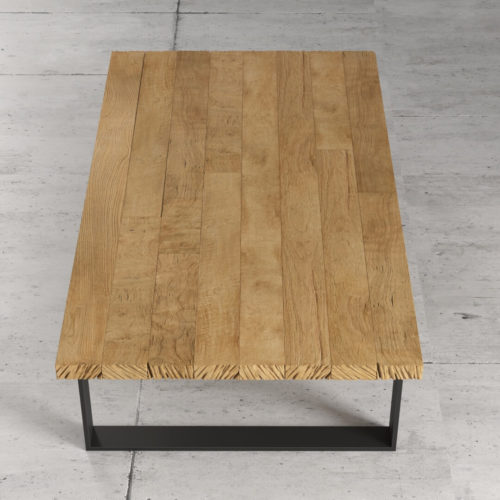 55'' Soma Coffee Table in Natural Wood Finish 5